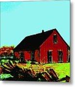 Red Barn   Number 5 Metal Print