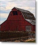 Red Barn Photoart Metal Print