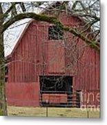 Red Barn Series Picture C Metal Print