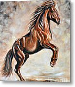 Red Beauty Metal Print