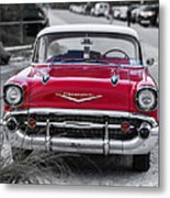 Red Belair At The Beach Standard 11x14 Metal Print