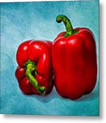 Red Bell Peppers Metal Print