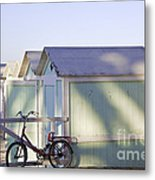 Red Bicycle At Mondello Beach Metal Print