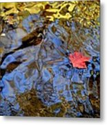 Red Blue And Gold Metal Print