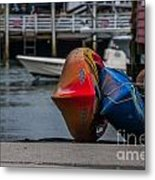 Red Blue And Yellow Metal Print