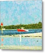 Red Boat Outing Metal Print