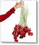Red Bouquet Metal Print