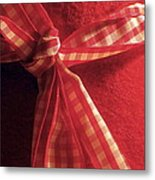 Red Bow Metal Print