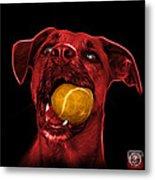 Red Boxer Mix Dog Art - 8173 - Bb Metal Print