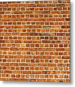 Red Brick Wall Texture Metal Print