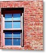 Red Brick Window Metal Print