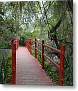 Red Bridge Metal Print
