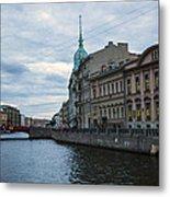 Red Bridge - St. Petersburg - Russia Metal Print