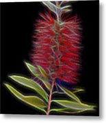 Red Brush Glow Metal Print