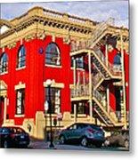 Red Building On Water Street In Saint John's-nl Metal Print