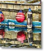 Red Buoy Reflections Of Alaska Metal Print