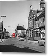 Red Bus And Red Telephone Box - 1960's    Ref-124-2 Metal Print