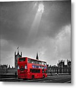 Red Bus Metal Print by Svetlana Sewell