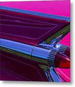 Red Caddy Tail Lights Metal Print