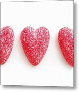 Red Candy Hearts Metal Print