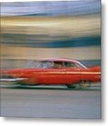 The Red Car Metal Print