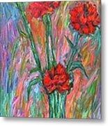 Red Carnation Melody Metal Print