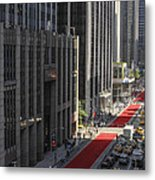 Red Carpet On 6th Ave Metal Print