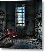 Red Chair - Art Deco Decay - Gary Heller Metal Print