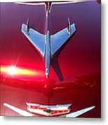 Red Chevy Car Hood  Metal Print