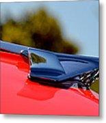 Red Chevy Hood Metal Print