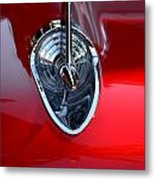 Red Chevy Hood Ornement Metal Print