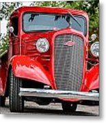 Red Chevy In Awesome Metal Print