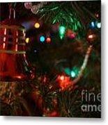 Red Christmas Bell Metal Print