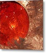 Red Christmas Ornament Metal Print