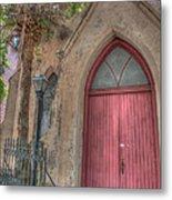 Red Church Door Metal Print