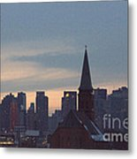 Red Church Metal Print