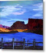 Red Cliffs On The Colorado Metal Print