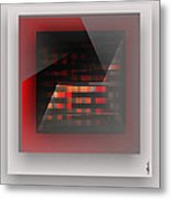 Red Color Wrap Metal Print