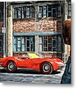 Red Corvette Metal Print by Bob Orsillo