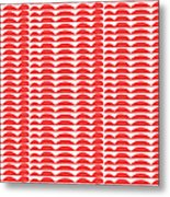 Red Cut Outs- Abstract Pattern Art Metal Print