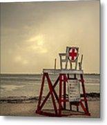 Red Cross Lifeguard Metal Print