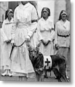 Red Cross Parade, 1920 Metal Print