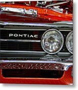 Red Customized Retro Pontiac-front Left Metal Print