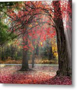 Red Dawn Square Metal Print by Bill Wakeley