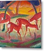 Red Deer 1 Metal Print