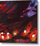 Red Demon With Pearls Metal Print