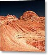 Red Desert Swirls Metal Print