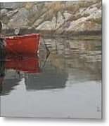 Red Dinghy  Metal Print