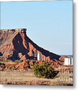 Red Dirt And Oil And Gas Metal Print