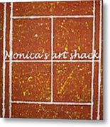 Red Dirt Of A Tennis Court Metal Print by Monica Art-Shack